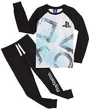 PlayStation Pijama Niño, Pijamas Niños con Pantalon Negro y Camiseta de Manga Larga, Ropa Niño de Dormir 100% Algodon, Regalos para Niños y Adolescentes Edad 7 a 15 Años (11-12 años)