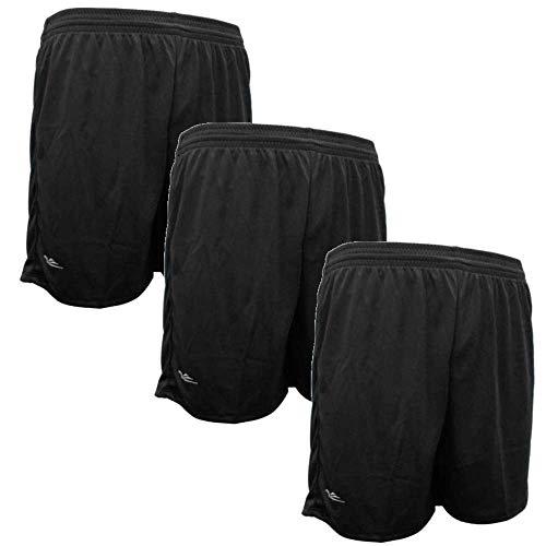 Kit 3 shorts masculino academia futebol poliéster (Kit 8, G (42/44))