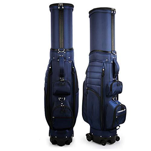 SHX Golftasche, Deluxe Reisetasche, Golftasche mit Rollen, Leichte strapazierfähige Regenhaube Golftasche,Blau