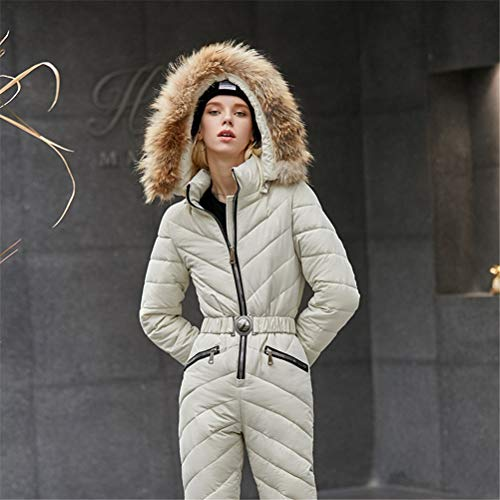 Hbao Winter Schnee Ski Anzug Frauen einteiliger wasserdichter Warmer Overall Damen Skianzug (Color : Color 2, Size : Large)