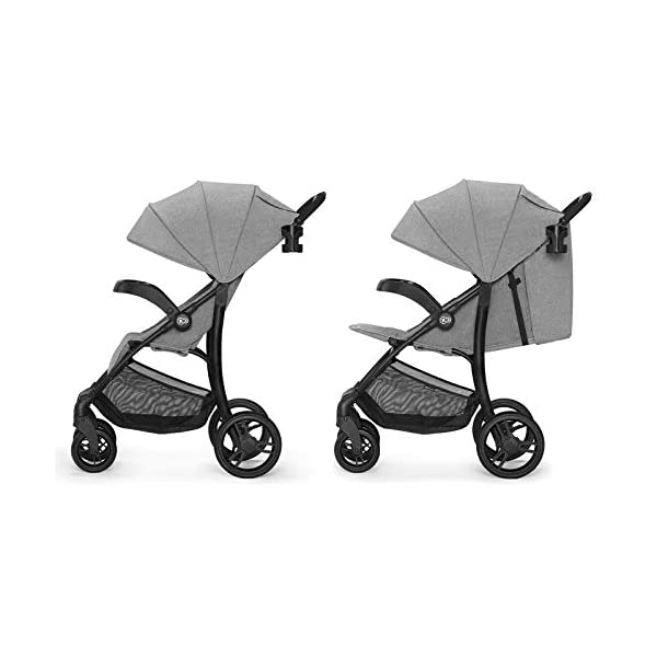 Kinderkraft Lightweight Stroller Cruiser, Baby Pushchair, Foldable, Lying Position, All Wheels Suspension, Big Ajustable Hood, with Accessories, Footmuff, from Birth to 3.5 Years, 0-15 kg, Gray kk KinderKraft STOP&GO BRAKE - Which allows you to quickly lock/unlock the wheels in any type of shoes EASY FOLDING - The stroller can be easily folded or unfolded with just a single move TRAY-SHAPED SEAT HANDLE - Provides perfect space for both playing and feeding. It can be easily detached and washed under running water 5