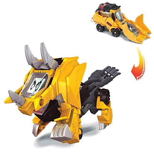 VTech Switch & Go Dinos Brutus, der Tricerattops Bagger, interaktives elektronisches Dinosaurier, umwandelbar in das Auto mit Sprach, Funktionen, über 60 Sounds und Sätze, gelb (80-195122)