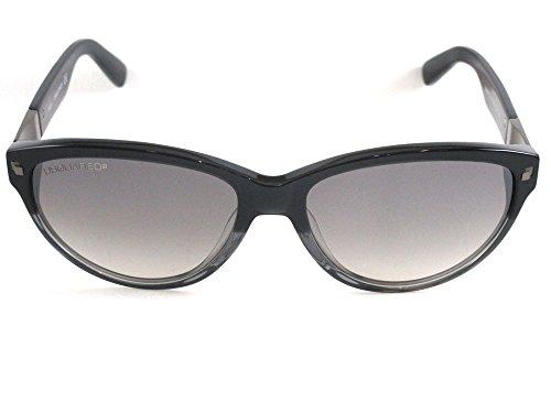 D Vierkante zonnebril mannen 0222 91C, Mat Blauw Frame/Rookspiegel Lens Metaal, 57mm