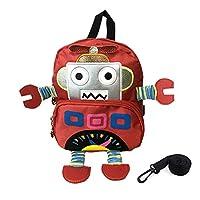 こどもリュック ロボットリュックサッ クこども用バッグ 迷子防止ひもリード付き 幼児リュックサッ 取り外し可能なロープ付きのリュックサック 通園通学 小学生 赤ちゃん 女の子 男の子 人気 おしゃれ