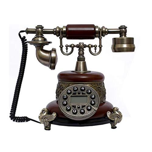 VERDELZ Teléfono Fijo Retro de Resina,Teléfono Antiguo Fijo Universal de Estilo Clásico para Escritorios, Salas, Dormitorios