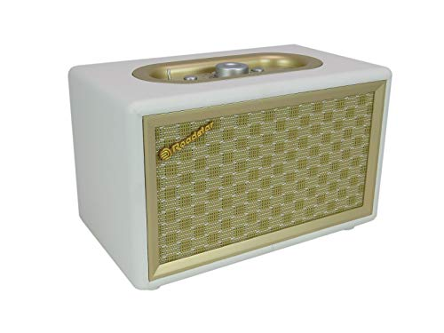 Roadstar HRA-310BT Retro Radio mit Bluetooth (UKW-Radio, 2 x 8 Watt RMS, AUX-In, Netzbetrieb), gold / creme