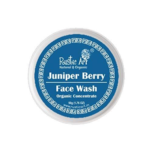 Rustic Art Organic Juniper Berry Face Wash Concentrate   Dry Skin, Dry Acne & Sensitve Skin  50 Gm