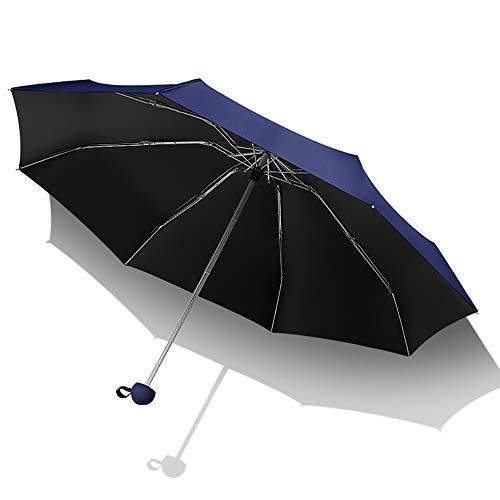 WLY Outdoor Umbrellas, Lightweight Mini Sun Umbrellas, Sun Protection, UV Protection, Folding Umbrellas, Vinyl Portable, Compact UV Protection, 99%,Blue