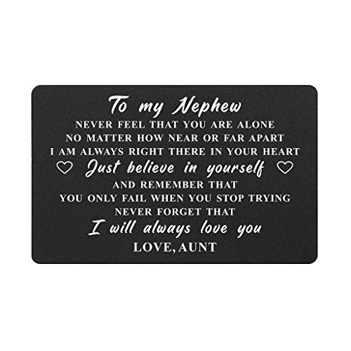 Geburtstagskarte für Neffen von Tante, To My Nephew Never Forget That I Love You, Neffen Geburtstagsgeschenk von Tante, Abschlussgeschenke, Geburtstagsgeschenke, Weihnachten