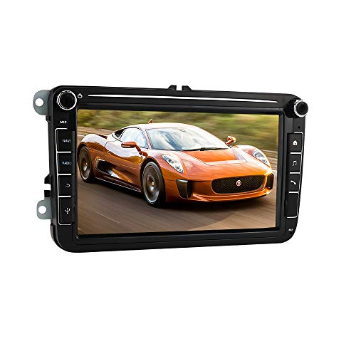 Android 10 Car Radio Stereo con Pantalla táctil capacitiva de 8 Pulgadas para Volkswagen/Skoda/Seat, Soporte de navegación GPS de 2 DIN Conexión USB Control del Volante Bluetooth WiFi