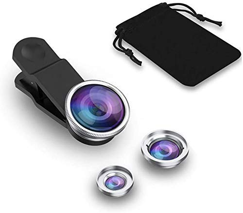 Lowfe Basic 3in1 Mobile Camera Photo Lens; Fisheye Lens; Wide Angle; Macro Lens with Clip Holder for iOS and All Latest Smartphone
