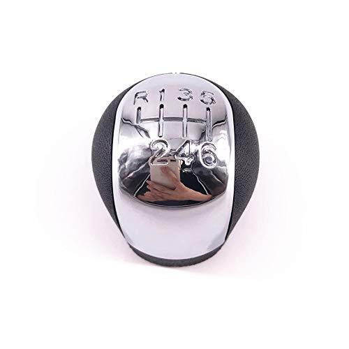 unknow Verchromter 5 6-Gang MTSchaltknauf für OPEL Vectra C SIGNUM 2002-2005 Schaltkopf Kugelschreiber Arm Schalthebel Stick Ball