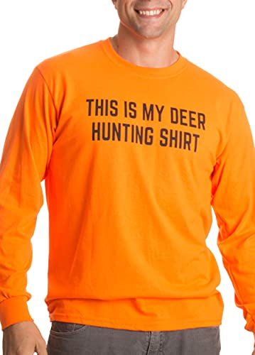 This is My Deer Hunting Shirt | Funny Hunter Blaze Orange Safety Clothes T-Shirt-(Adult,2XL)