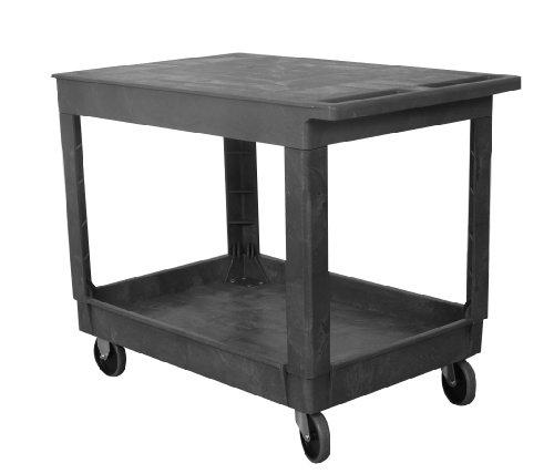 Wesco Industrial Products 270493 Plastic Flat-Top Standard Service Cart, 2 Trays, 500-lb. Load Capacity, 40.25' L x 25.5' W x 32.5 H