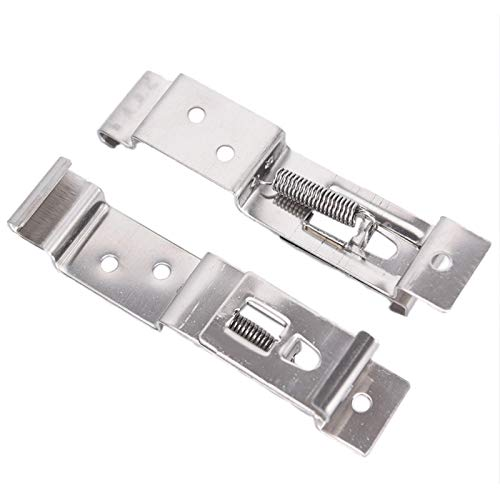 2X European Car License Number Plate Frame Holder Trailer Clips Spring Stainless Steel Bracket