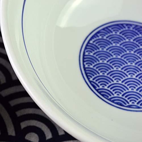 CAIJINJIN Tazón Gran plato de sopa de cerámica del hogar grande Tazón Vajilla gran fideos ramen Comercial Mar del recipiente de alta Tazón Tazón de 8 pulgadas