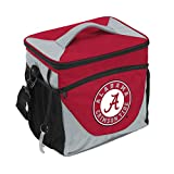 Logo Brands NCAA Alabama Crimson Tide Unisex Adult 24-Can Cooler with Bottle Opener and Front Dry Storage Pocket, One Size, Multicolor