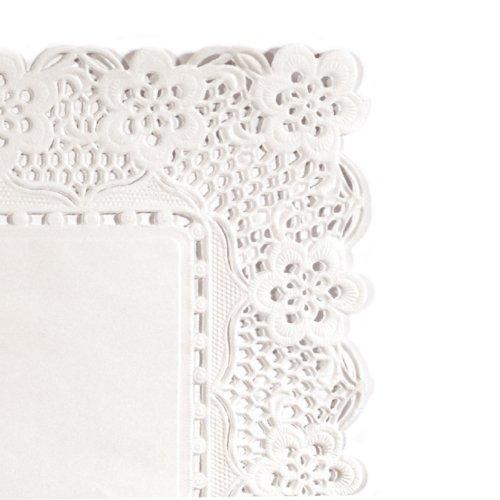 Garcia de Pou - Centrini rettangolari, 40 x 30 cm, carta bianca, 40 x 30 x 30 cm