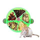 SAWMONG Hamster Rat Toy Foraging System Wheel Treat Auto Feeder Rotate Parrots Training Toy for Mice & Chinchilla
