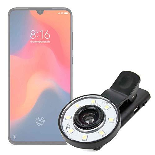 DURAGADGET Flash Selfie para Smartphone Xiaomi Mi 9, Xiaomi Mi 9 SE, Xiaomi Mi 9 Transparent Edition