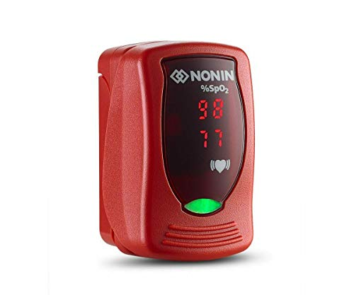Nonin Onyx Vantage 9590 Finger-Pulsoximeter, Rot