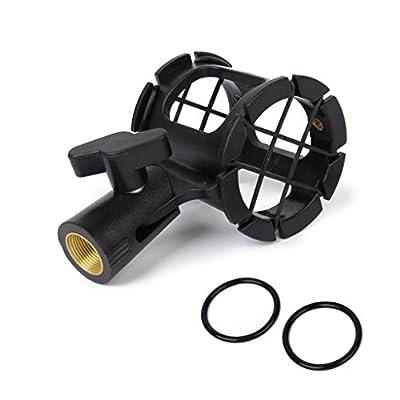 Microphone Shock Mount Clip Holder for Handheld Condenser Mic 25-38mm Black