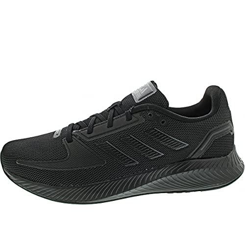 adidas RUNFALCON 2.0, Zapatillas de Running Hombre, NEGBÁS/NEGBÁS/GRISEI, 40 EU