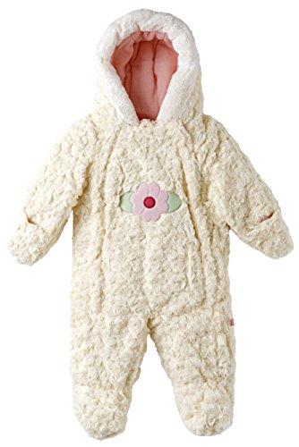 Wippette Baby Girls Infants Hooded Faux Fur Fleece Lined Winter Puffer Snowsuit - Cream (9 Months)