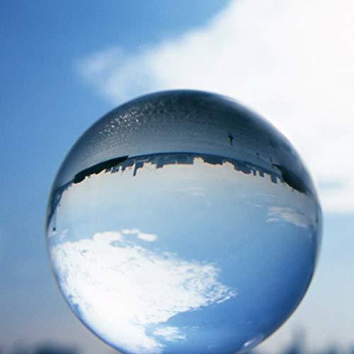 BESPORTBLE Palla da Giocoliere Trasparente 2.75 in (70Mm) Sfera di Cristallo - Sfera di Vetro per Fotografia/Meditazione/Divinazione O Matrimonio/Decorazione Casa/Ufficio