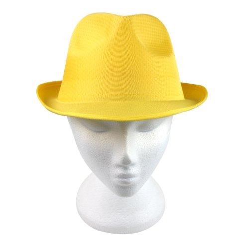 eBuyGB Unisex Sommer-Panama-Hut, Orange, Einheitsgröße M gelb