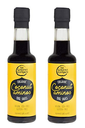 Organic Coconut Aminos - Barbeque Sauce - 150ml - 2 Bottles - Coconut Aminos, Vegan, Non-GM, Gluten-Free, Naturally Fermented, from Pure Coconut sap