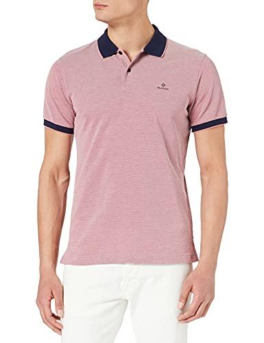 GANT D2. 4-Col Oxford Pique SS Rugger Camisa de Polo, Paradise Pink, L para Hombre