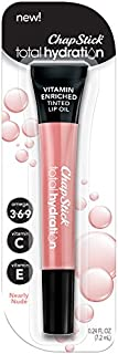 ChapStick Total Hydration Vitamin Enriched Tinted Lip Oil, Nearly Nude, 0.24 Ounce
