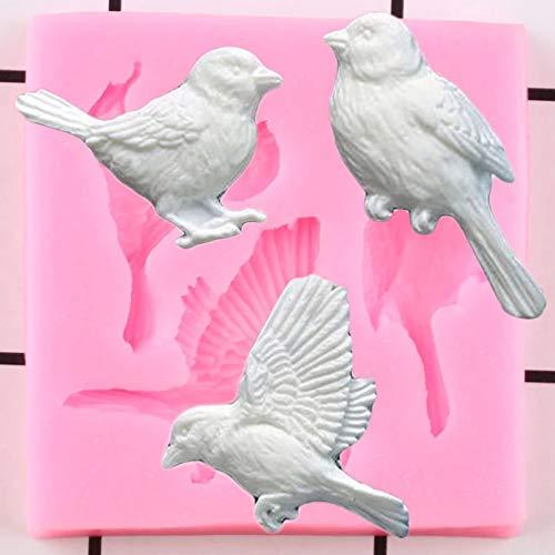 LNOFG 3D Vogel Silikonform DIY Süßigkeiten Schokolade Backform Kuchen Fudge Kuchen Dekorationswerkzeug Harz Tonform