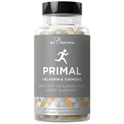 Primal Joint Support & Healthy Inflammation – Immune Support, Whole-Body Flexibility, Active Mobility Men & Women – Celadrin, Turmeric Curcumin, Boswellia – 60 Vegetarian Soft Capsules