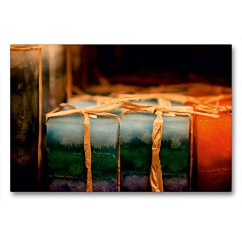 CALVENDO Premium Textil-Leinwand 90 cm x 60 cm quer EIN Motiv aus dem Kalender Christmas Geschichten aus Bremen Weihnachtsmarkt | Wandbild, Bild auf Leinwand, Leinwanddruck Orte Orte