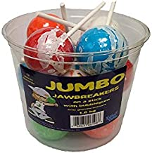 Exclusive Brands Jumbo Jawbreakers on a Stick with Bubblegum, 12ct, 1.6kg/56oz (Imported from Canada)
