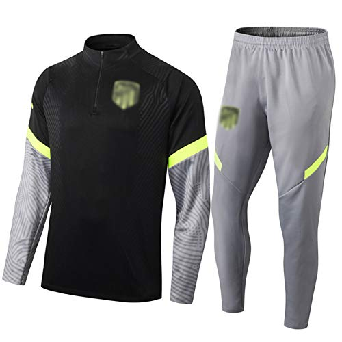 2021 Atlétìcà Mǎdrǐd Football Training Suit Negro - Camiseta De Fútbol De...
