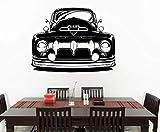 Coche especial Patrón Retro Pared Arte del hogar Decoración de la sala de estar Etiqueta de la pared de moda Silueta del coche