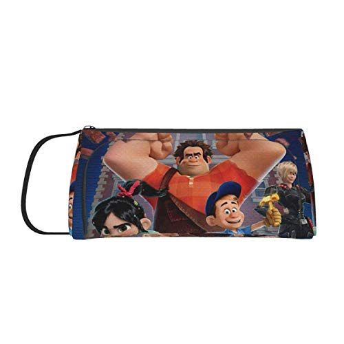 Wreck-It Ralph Big Capacity Pencil Case Oxford Cloth Multiple Compartment Double Zipper Portable Stationery Holder Bag Travel Hanging Bag Cosmetic Bag School Home Office