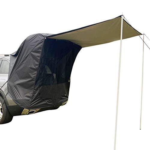 Auto Sun Markise Wasserdichtes Shelter Kit, Wohnmobil-Zelt, Outdoor Camping Heckklappe Dach Mit Metallstützstange Für SUV, MPV, Schrägheck, Minivan, Limousine,B