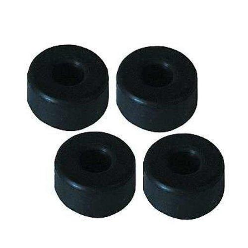 Lautsprecher-Füße, Vollgummi 25mm dm x 10mm hoch, 4er-Set