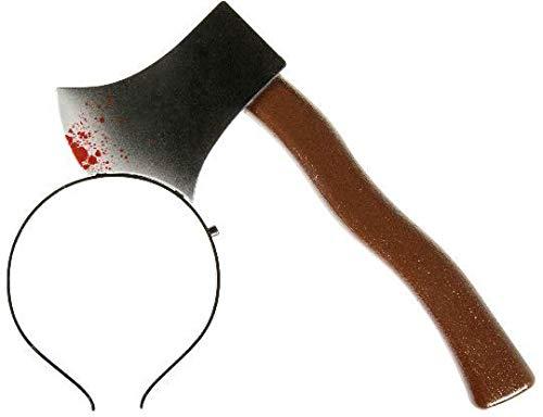 Evil Wear Fasching-Haarreif Grusel-Kostüm Halloween blutige AXT im Kopf (Beil)