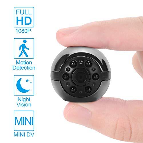 Prenine Mini cámara DVR, videocámara HD 1080P Visión Nocturna Grabadora de Video Cámara espía Oculta Micro DVR CAM Detección de Movimiento por Infrarrojos