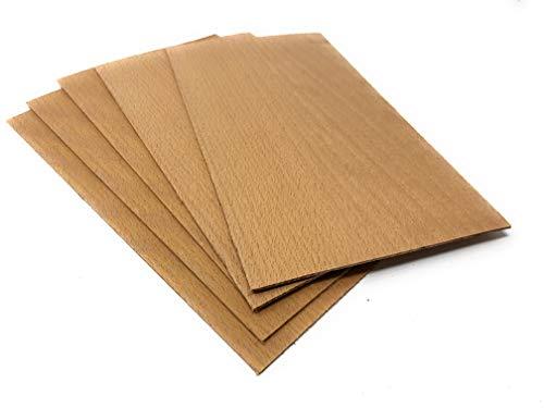 4-5 Furniere in der Holzart Buche 2,4mm; Gesamtmenge: 0,2qm; Edelfurnier Echtholz Holzplatte geeignet für: Modellbau, Foto, als Bastelholz, Preisschilder Holzfurnier zum Basteln Intarsien DIY