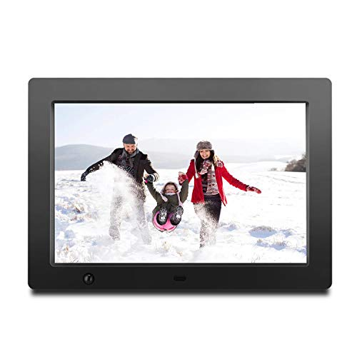 Digital Photo Frame 10 inch with Slideshow Electronic Photo Album with HD IPS Display Picture Frame with Motion Sensor/Video/Background Music/Calendar/Clock/Auto-Rotate/Best Gifts by FLYAMAPIRIT