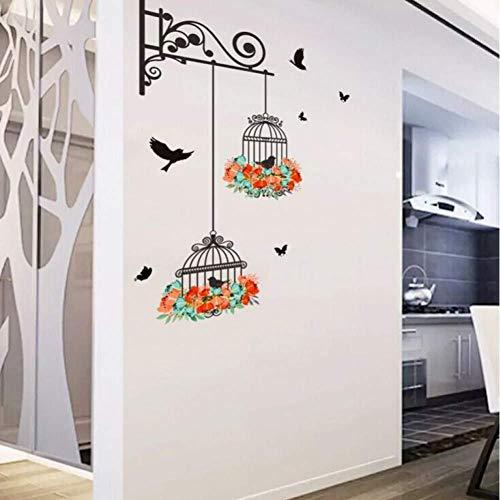 Wandaufkleber Diy Vogelkäfig Lackieren Home Wohnzimmer Schlafzimmer PVC Vinyl abnehmbare Kunst DekorativeWandbild