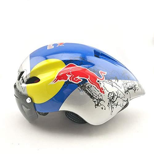 YXDEW Deporte Red Bull-Color del Casco de Montar la Bicicleta Casco de...