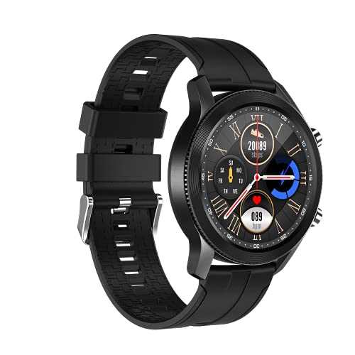 SANAG Smart Watch Compatible with iPhone and Android Phones,Fitness Tracker with Blood Pressure & Heart Rate Monitor, Call & Message Notification & Weather Forecast, IP68 Waterproof Smartwatch for Men