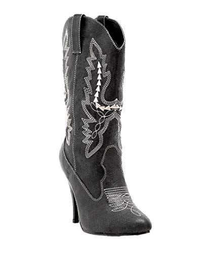 Ladies bottes de cow-boy noir 38